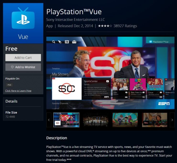 """PlayStation ™ Vue sur PS4 - stream NFL games live """"width ="""" 740 """"height ="""" 678 """"/>    <figcaption class="""
