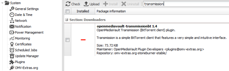 Configurer la transmission sur Raspberry Pi - Installation de transmission