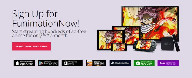 Disponibilité de platforme de Funimation - FunimationNow Android TV App [19659011] Funimation est un prix attractif, et est disponible sur de nombreuses plates-formes différentes. </figcaption> </figure> <p style=
