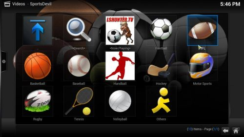 Sports Addon pour les flux Kodi - Kodi Addons pour le football universitaire