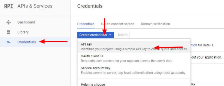 Créer une clé API pour l'assistant principal