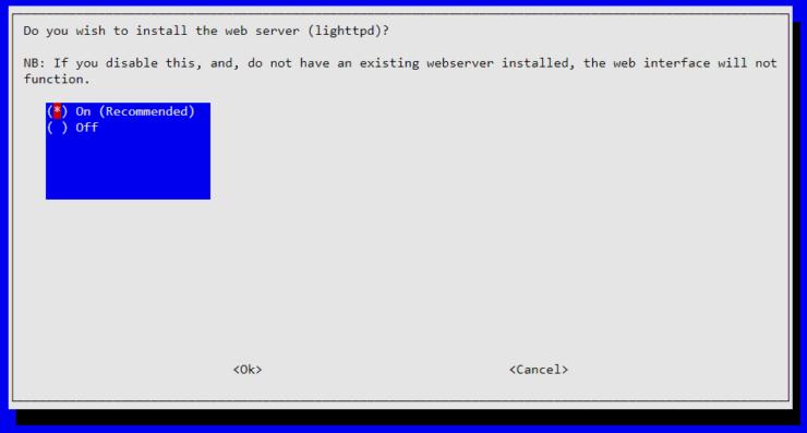 Installer le serveur Web lighttpd pour PiHole