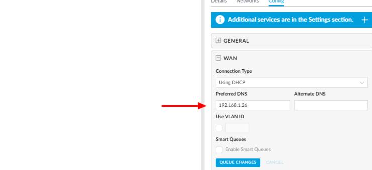 Spécifiez manuellement le DNS dans le contrôleur UniFi