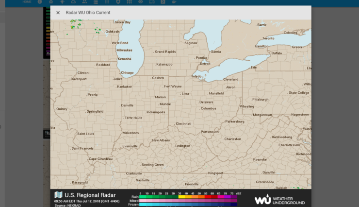 Radar météorologique statique sur Home Assistant