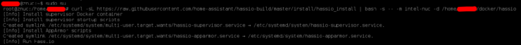 HASS.io Installation sur Docker - Message de confirmation