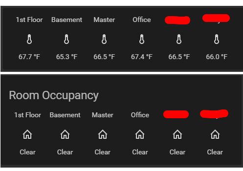 Capteurs de pièce Ecobee sur Home Assistant