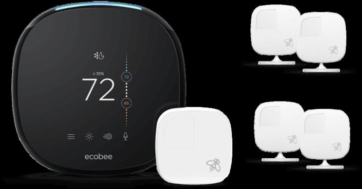 Ecobee 4 avec capteurs d'ambiance