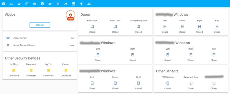 Monitoring Abode Home Security on Home Assistant