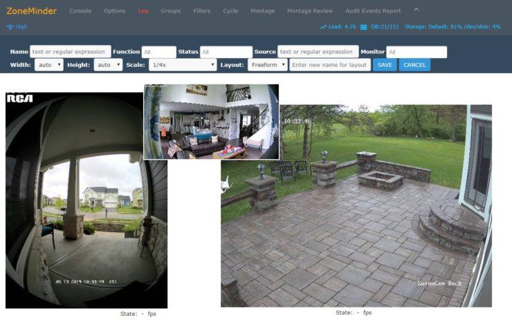 ZoneMinder sur Docker pour caméras de sécurité