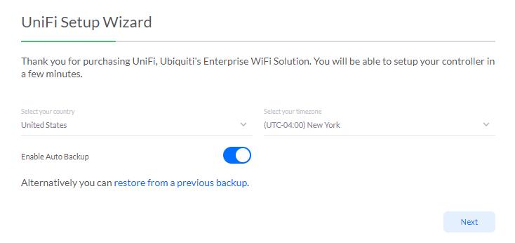Restaurer la configuration du contrôleur UniFi