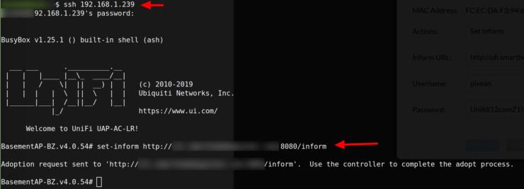 Définir Inform IP pour les périphériques UniFi utilisant SSH
