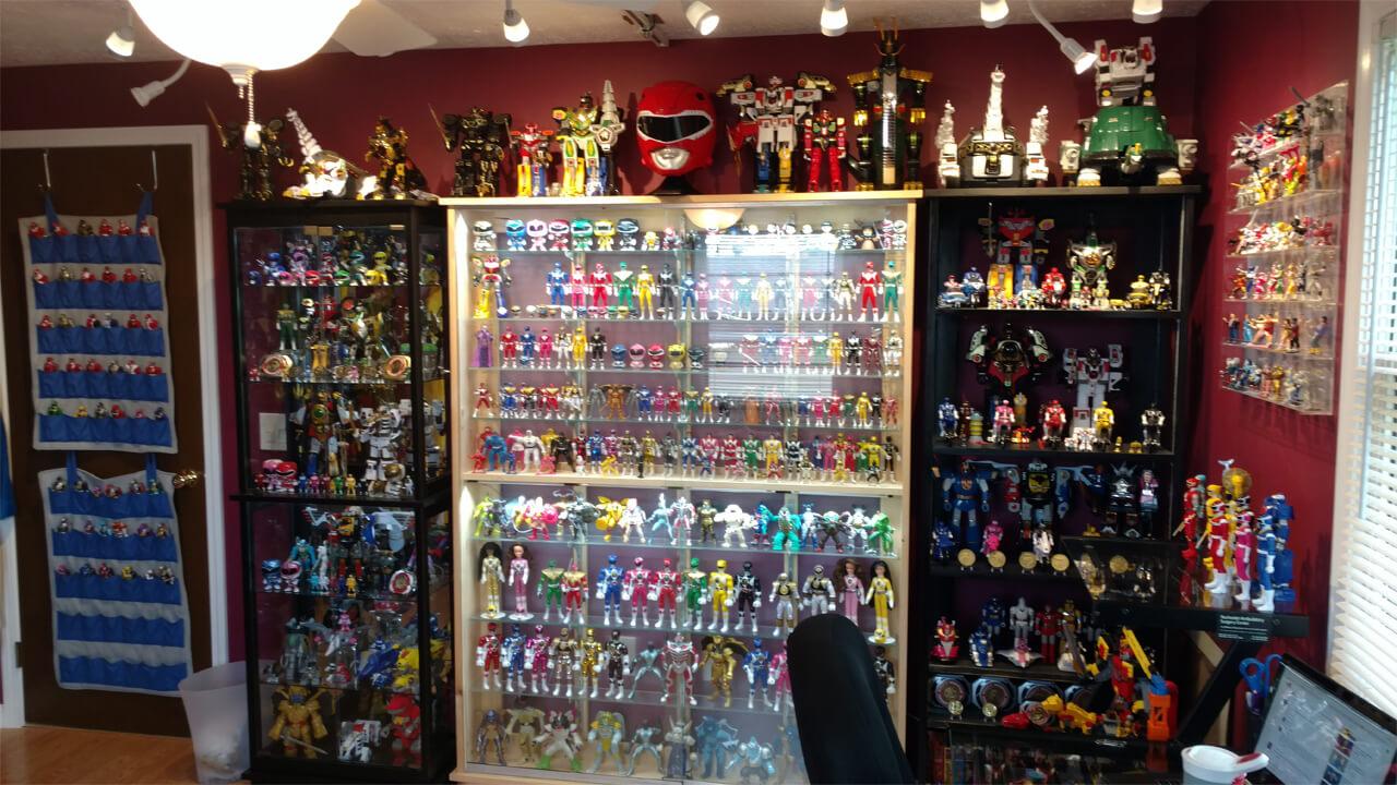 toutes les séries de power rangers sur la collection de jouets netflix power rangers