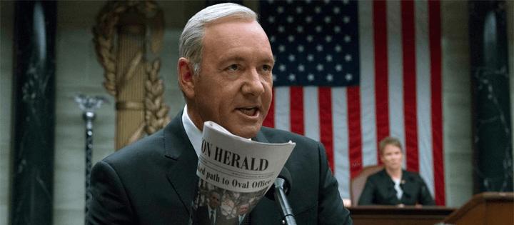 meilleur netflix tv méchants président frank underwood château de cartes