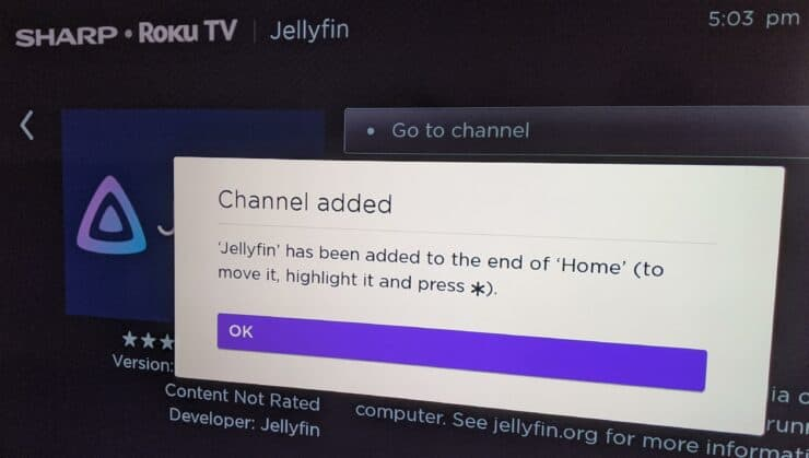 Installez l'application Jellyfin sur Roku TV